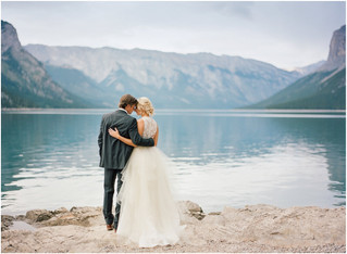 Alberta Canada | Lake Minnewanka -Mountain Elopement