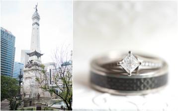 Hilbert Circle Theatre Wedding | Indianapolis Indiana Wedding Photographer | Rachael & David