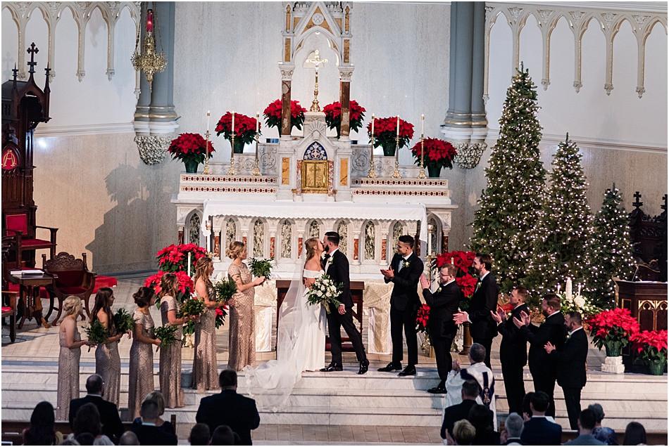 First-kiss-St-johns-catholic-church