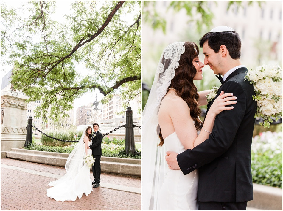 Monument-circle-wedding-photos
