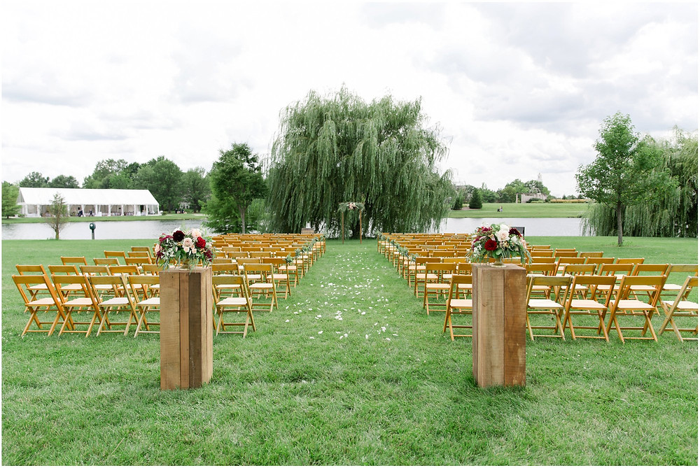 Wedding ceremony cox hall gardens