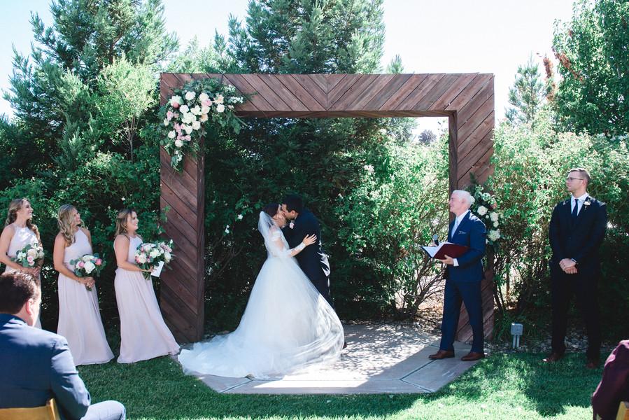 Wedding ceremony California coast