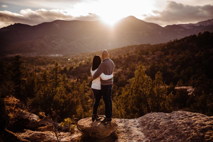 Colorado Springs destination engagement session