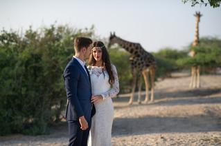 Giraffes, Selfies, an Elopement- Oh My! | Dubai Wedding