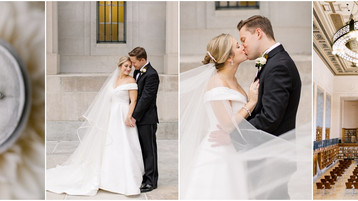 Indianapolis Public Library Wedding | Emily & John