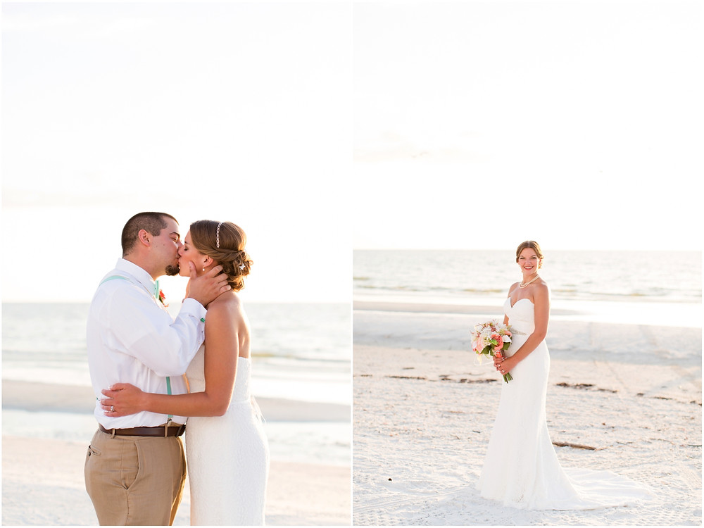 Beach wedding on Marco Island