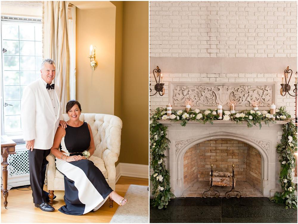 Bridal photos at Laurel Hall