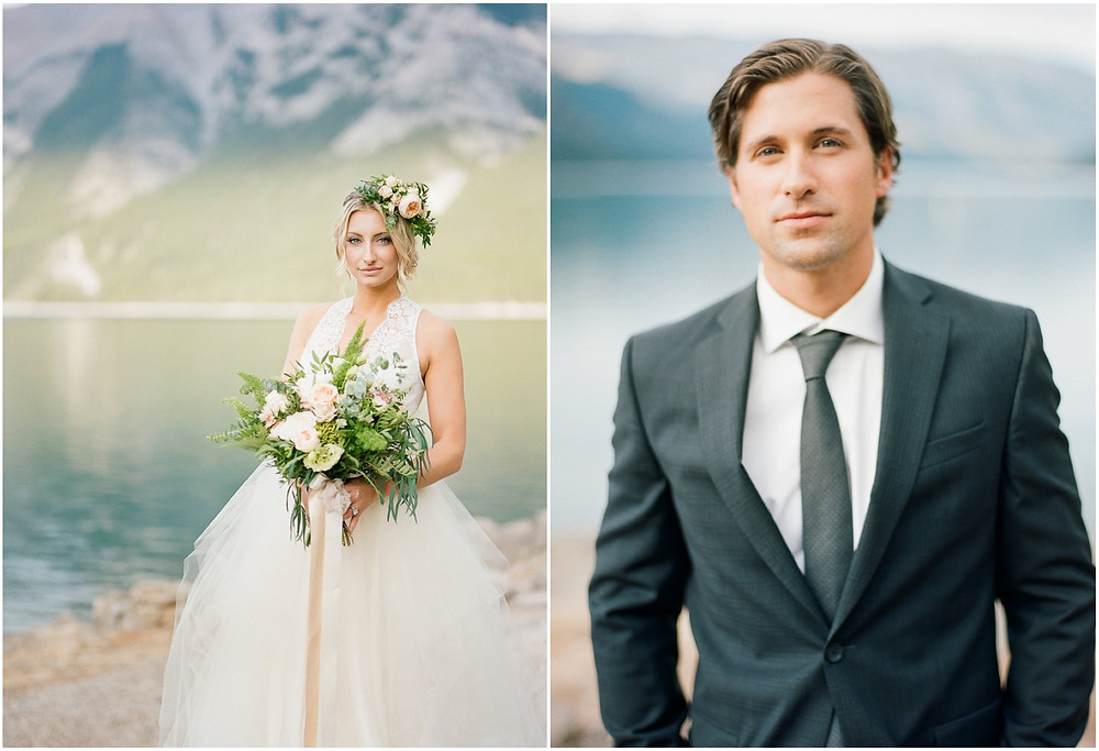 Canadian rockie mountains wedding
