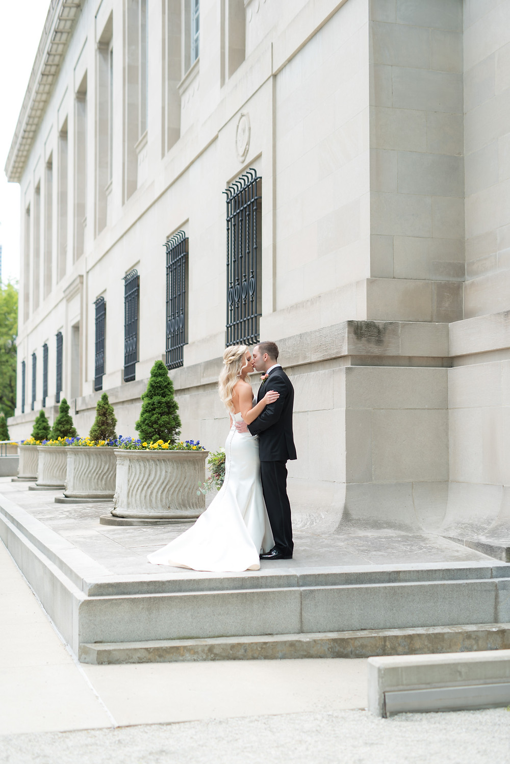 Indianapolis public library wedding and reception