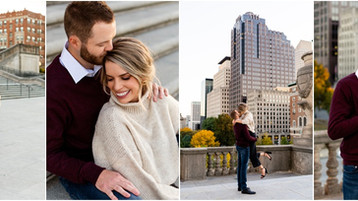 Downtown Indianapolis Engagement Session | Katie & Zach