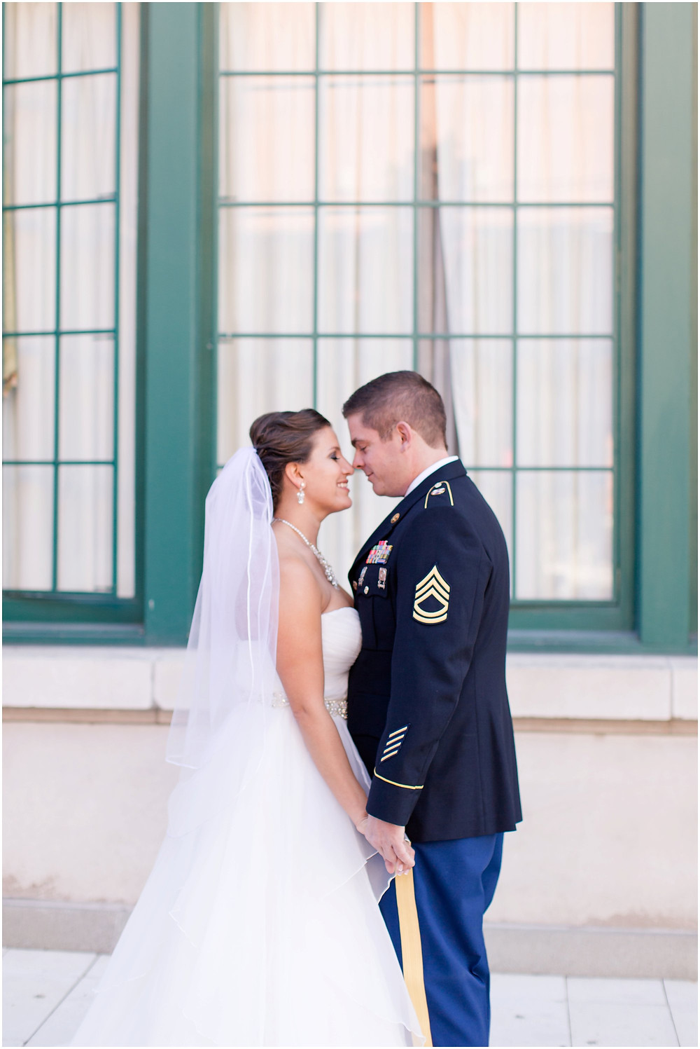 Bride and groom romantic poses