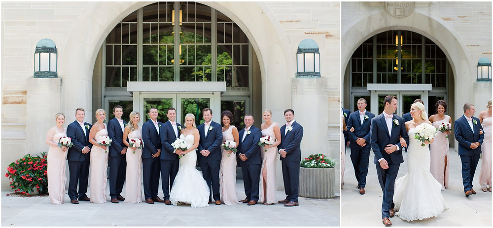 Bloomington University campus wedding