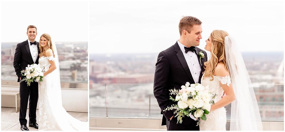 Rooftop-indianapolis-wedding-photos