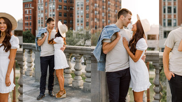 Downtown Indianapolis Engagement Photos | Autumn & Bobby
