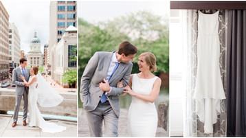 Downtown Indianapolis Wedding | Indiana State House | Kathy & John