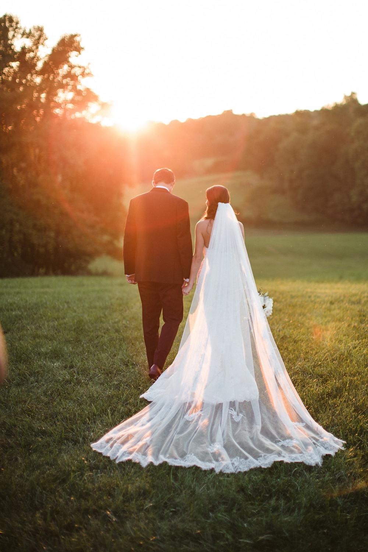 wedding day sunset images