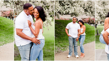 Downtown Indianapolis Engagement session | LeAndra & Brandon  Indianapolis Wedding Photographer