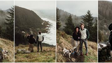 Oregon Coast Engagement Session | Cape Perpetua | Leslie & Liam