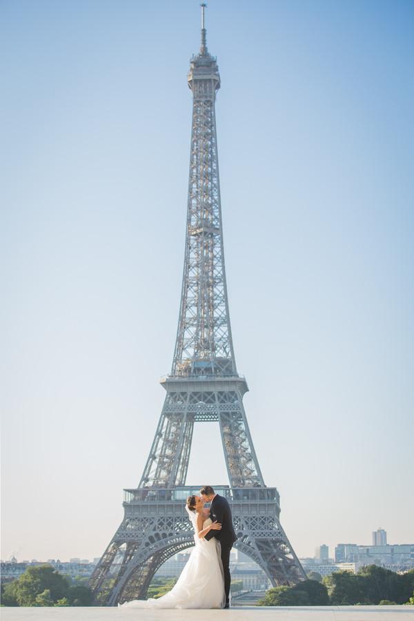 Eiffel Tower bridal portraits