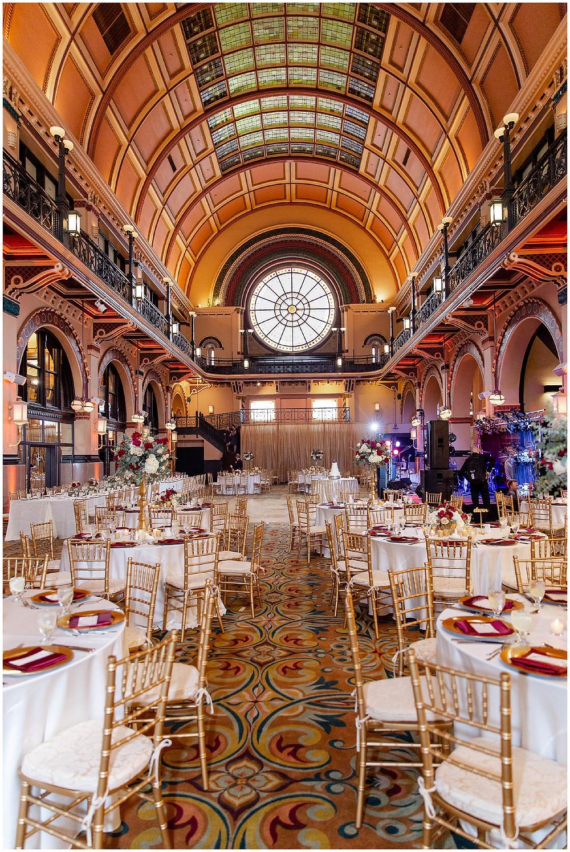 Crowne-Plaza-Union-Station-Indianapolis-Wedding-Reception