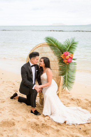 Hawaiian Destination Wedding Inspiration | Kualoa Regional Park, Hawaii