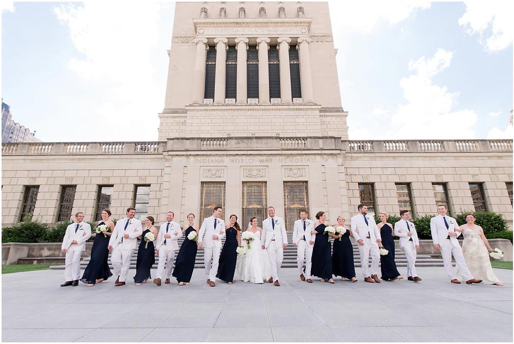 Wedding party photos Indianapolis