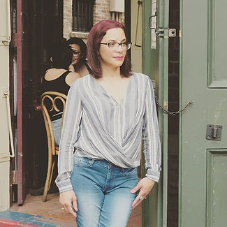 Daphne Marie Doucette in the French Quarter in New Orleans