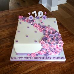 Floral Cascade Birthday Cake