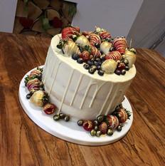 Drip Cake w/ Fruit
