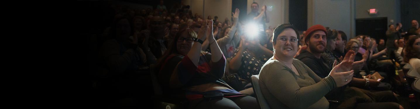 An audience applauds at Heartland International Film Festival
