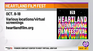 News graphic covering Heartland International Film Festival