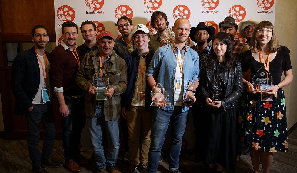 Filmmakers hold their awards