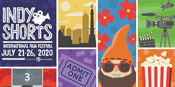 Graphic of Indy Shorts International Film Festival elements