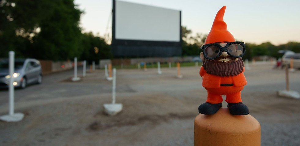 Iggy at a drive-in theater