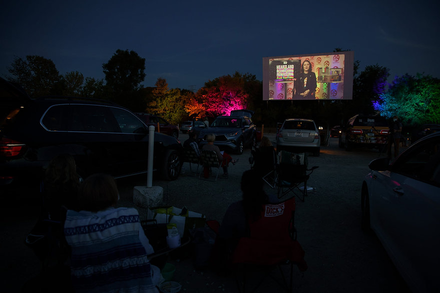 A drive-in screening at Heartland International Film Festival