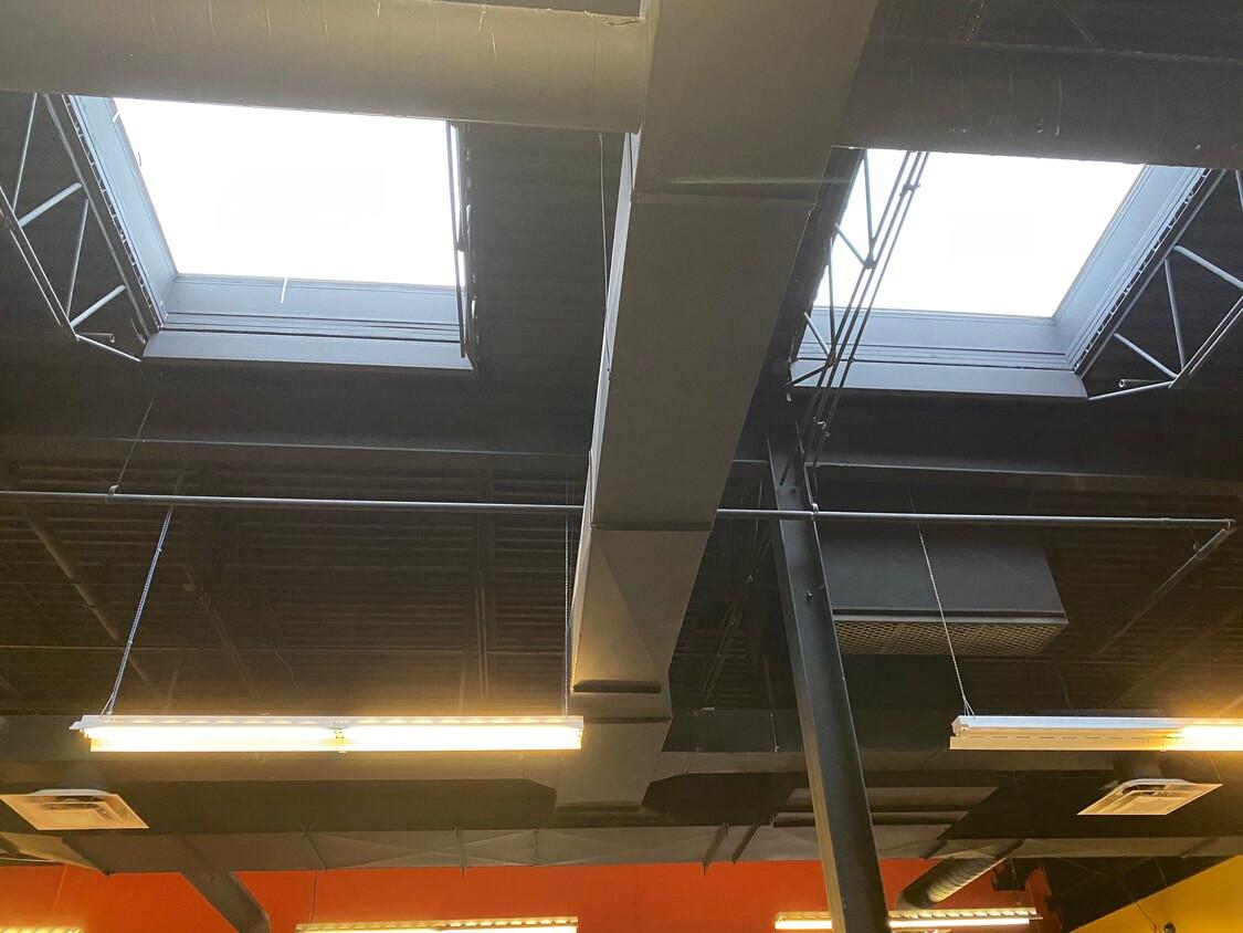 Skylights in Breakroom