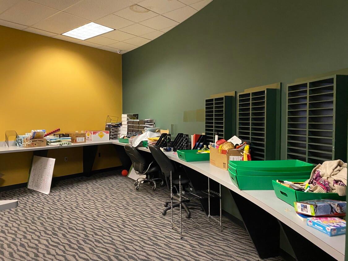 Emloyee Mail Slots / Work Room