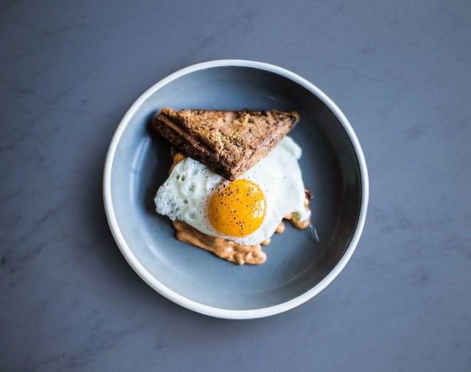 Sunny Side Up con Toast