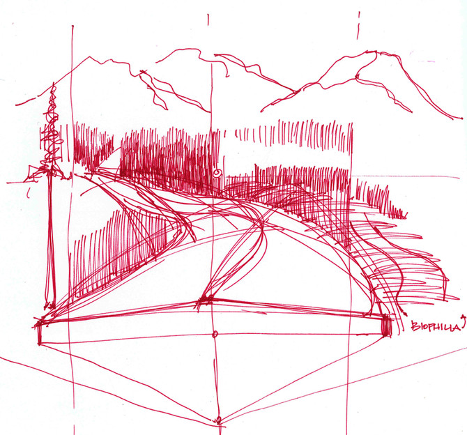 Base Sketches for Roadway Section-Perspectives