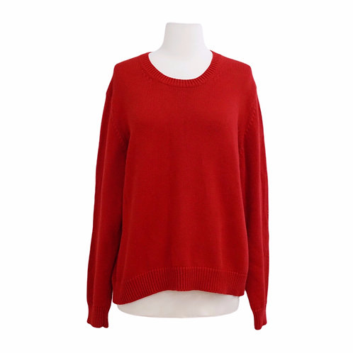 Red Crew Knit Sweater