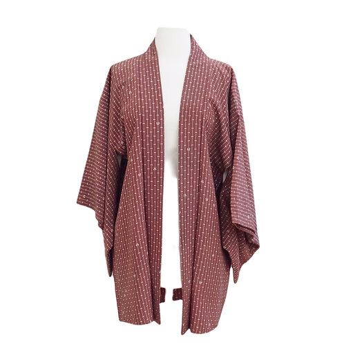 Mauve Printed Kimono