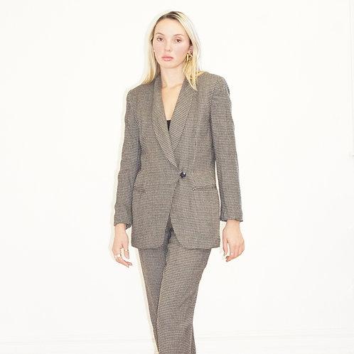 Brown Tweed Pant Suit