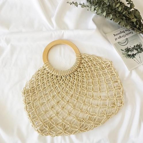 Tan Woven Handbag