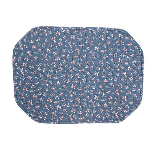 Blue Floral Placemat Set (4)