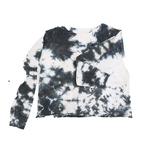 Cotton Tie Dye Long Sleeve Tee (Assorted Colors)