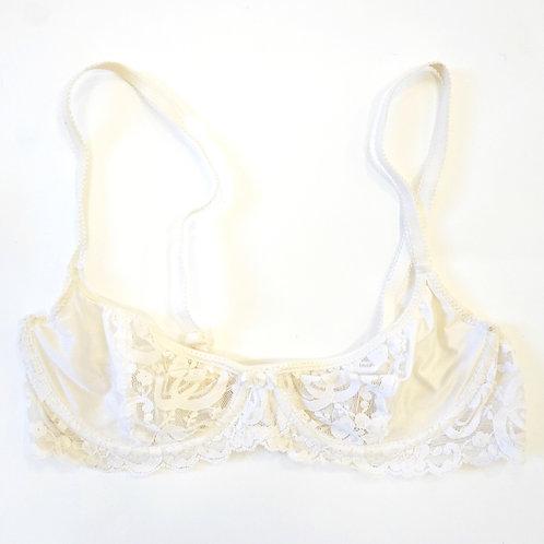 Vintage White Lace Bra
