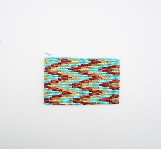Turquoise Beaded Coin Purse