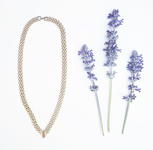 Gold V Chain Necklace