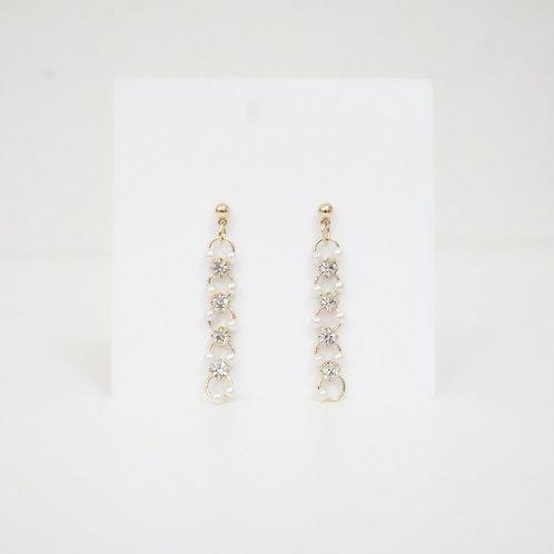 Rhinestone Drop Chain Earring