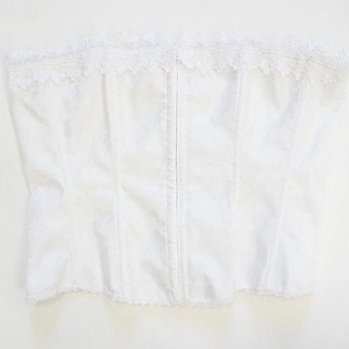 White Lace up Corset